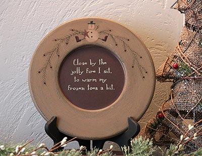 By The Jolly Fire Snowman Plate