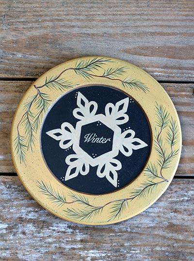 Winter Snowflake Plate
