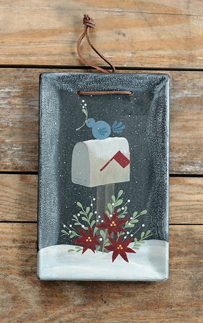 Winter Mailbox Hanging Tray