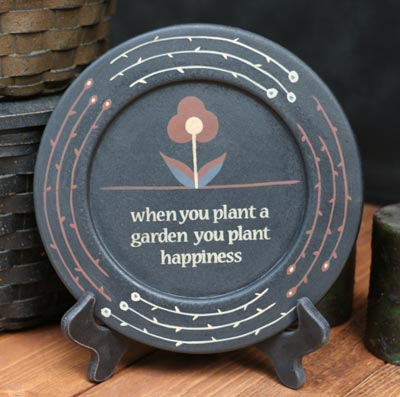 Wildflower Inspirational Plate - Plant Happiness