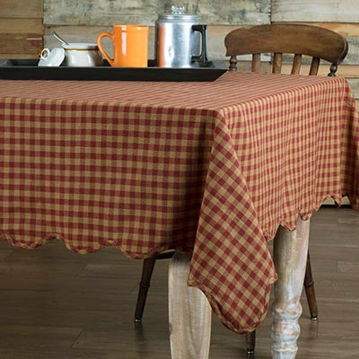 Burgundy Check 60 x 102 inch Tablecloth, by Nancy\'s Nook. - The Weed ...