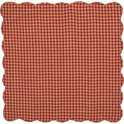 Burgundy Check Tabletopper/Tablecloth (40 x 40 inch)