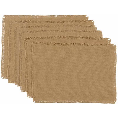 Burlap Natural Placemats (Set of 6)