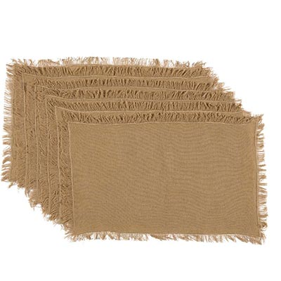 Tobacco Cloth Khaki Placemats (Set of 6)