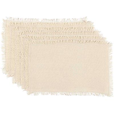 Tobacco Cloth Natural Placemats (Set of 6)