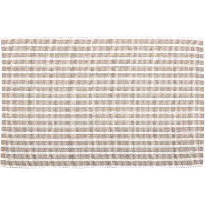 Harmony Taupe Ribbed Placemats (Set of 6)