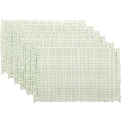 Madeline Mint Ribbed Placemats (Set of 6)