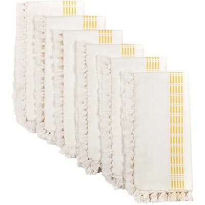 Madeline Yellow Napkins (Set of 6)