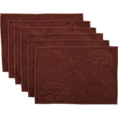 Carly Red Quilted Placemats (Set of 6)