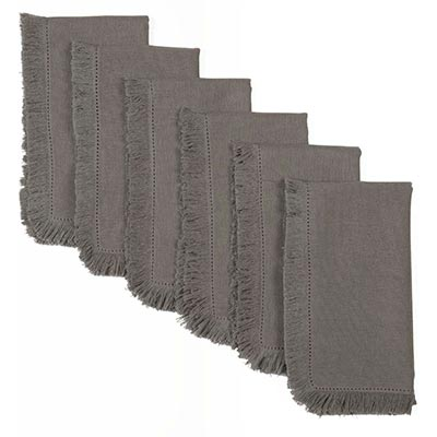 Haven Medium Grey Napkins (Set of 6)