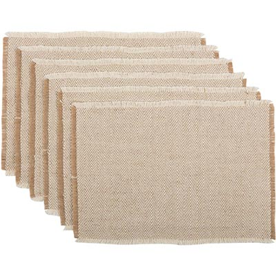 Hazel Creme Placemats (Set of 6)