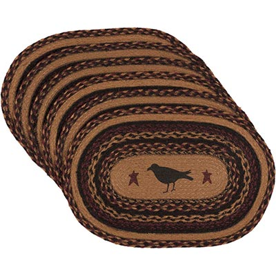Heritage Farms Crow Braided Placemats (Set of 6)