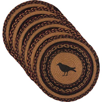 Heritage Farms Crow Braided Placemats (Set of 6) - Round