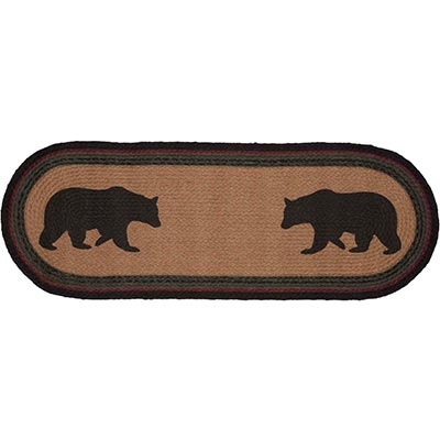 Wyatt Bear Braided Table Runner - 36 inch