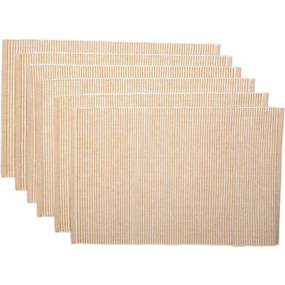Ashton Gold Ribbed Placemats (Set of 6)