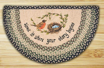 Robins Nest Half Moon Braided Jute Rug