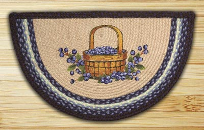 Blueberry Basket Half Moon Braided Jute Rug
