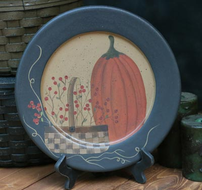 Pumpkin and Basket Vine Plate