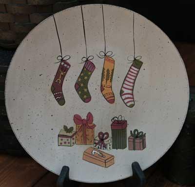 Stockings Plate