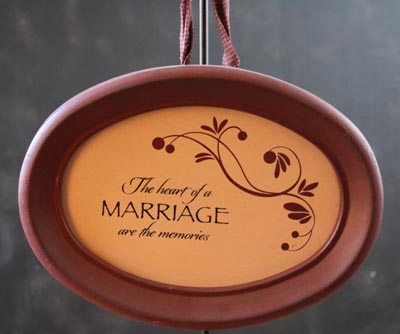 Marriage Hanging Oval Frame