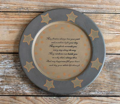Blessings Primitive Plate with Stars