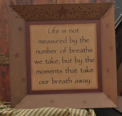 Life's Not Measured Plate