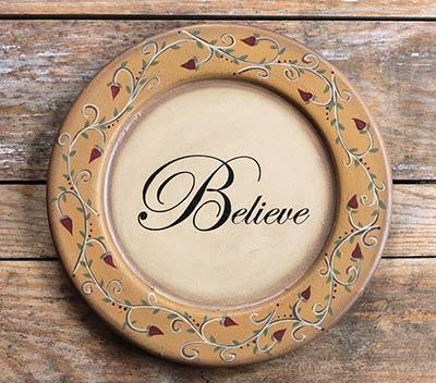 Believe Vine Plate