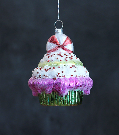 Green Cupcake Ornament