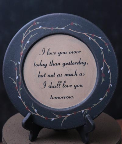 I Love You More Plate