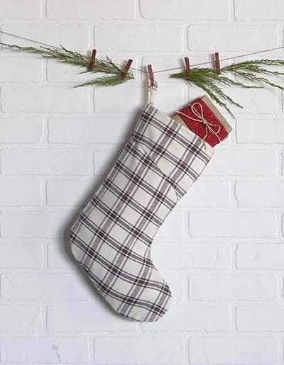Amory Plaid Christmas Stocking