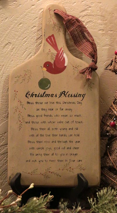 Christmas Blessing Hanging Paddle