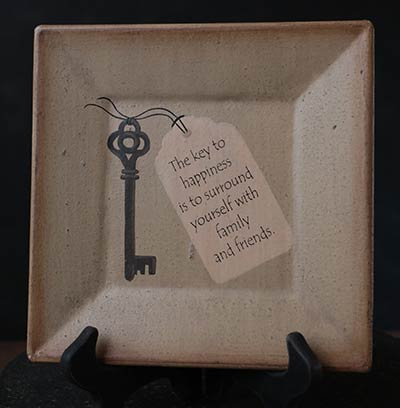 Key to Happiness Square Plate