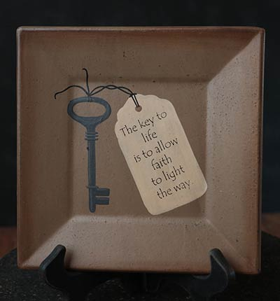 Key to Life Square Plate