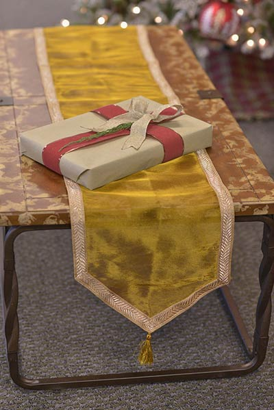 Tinsel 90 inch Table Runner