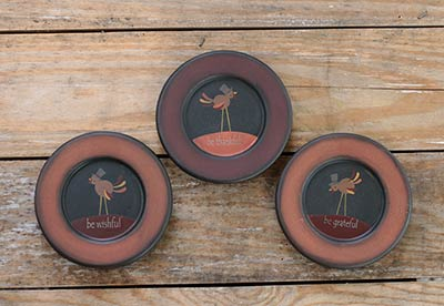 Tom Turkey Thankful Plates (Set of 3)