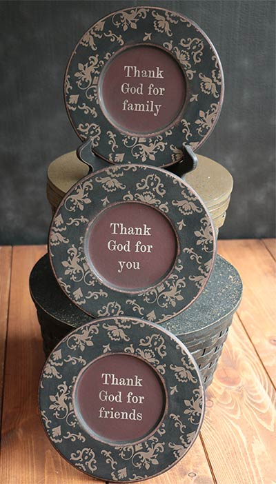 Thankful Vintage Plates (Set of 3)