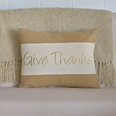Give Thanks Decorative Pillow