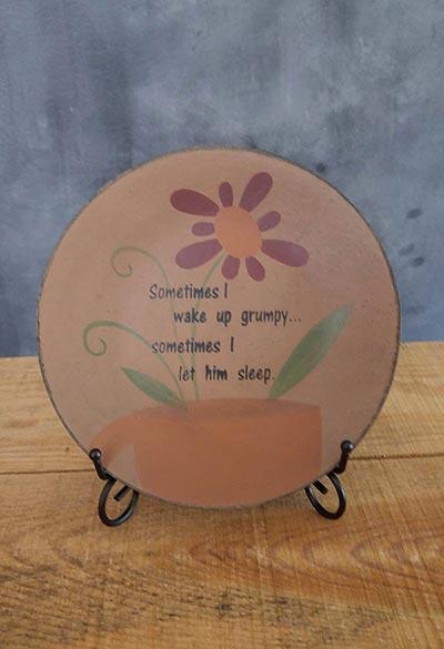 Wake Up Grumpy Plate