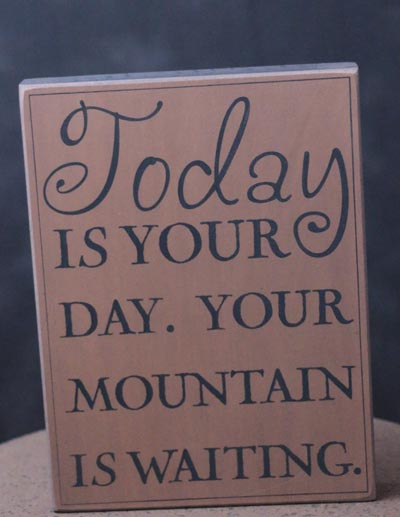 Mountain is Waiting Wall Plaque - Tan