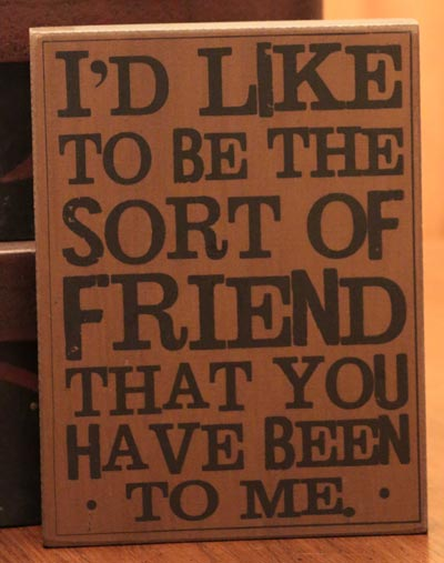 Like to be the Friend Wood Wall Decor (Mustard)