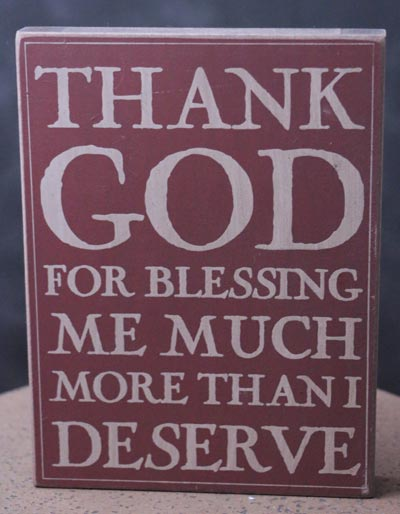 Thank God Wall Plaque - Burgundy