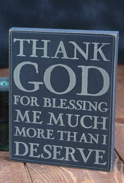 Thank God Wall Plaque - Black