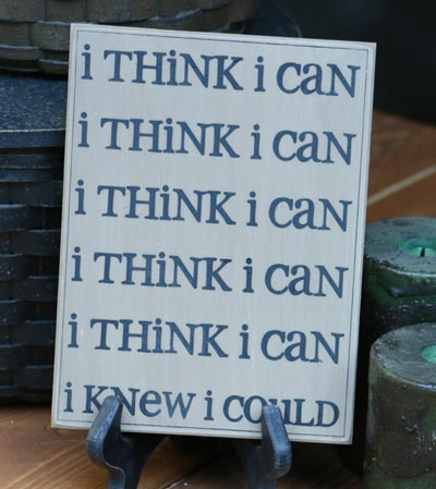 I Think I Can Wall Plaque - Oatmeal
