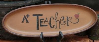 A+ Teacher Oval Tray