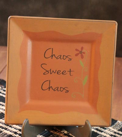 Chaos Sweet Chaos Square Plate