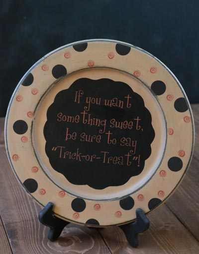Trick or Treat Plate
