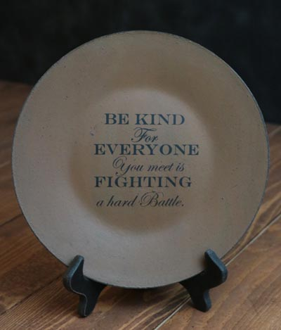 Be Kind Plate