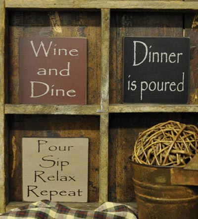 Dinner is Poured Sign