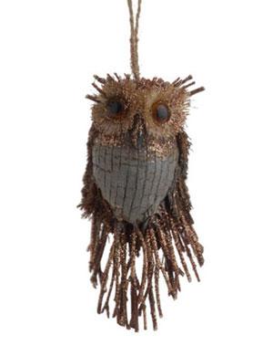 Forest Frost Owl Ornament