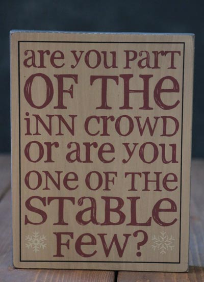 Inn Crowd Standing Box Sign